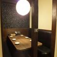 ゆったり寛げるテーブル席は、少人数のワイワイ飲みにも最適☆