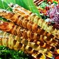 料理メニュー写真海老の塩焼き(2尾)