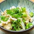 料理メニュー写真白センマイの特製葱ポン酢
