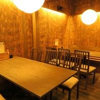 テーブル、カウンターなど幅広い席タイプをご用意