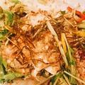 料理メニュー写真とろとろ卵のシーザーサラダ/野菜たっぷり和風豆富サラダ/豚しゃぶサラダ