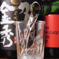 日本酒を注ぐ瞬間
