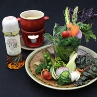 近江野菜パフェ&バーニャカウダ