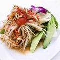 料理メニュー写真青パパイヤサラダ ソムタムSOMTAM THAI