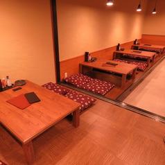 【広々お座敷席】4名掛けの小上がりお座敷席です。