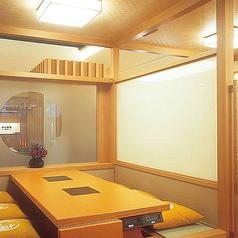 【上げ座敷】2~6名様までご利用可能です。 個室とは違い、広い空間のお席となっております。