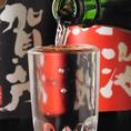 日本酒を注いだ後