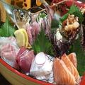 料理メニュー写真豪華舟盛り刺身 七種盛り