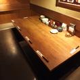 職場や学校関係、サークルの小規模な集まりなどにおすすめのテーブル席です◎