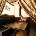 【☆個室☆】店内数席だけの夜景ディスプレイ付きの個室席。神戸各地の夜景をディスプレイで楽しみながらお客様だけの空間をご堪能いただけます。