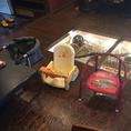 お子様用の椅子も各種ご用意しております