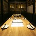 完全個室は掘りごたつ席orテーブル席からお選びいただけます。(※個室利用時は別途お1人様500円を頂戴します。)