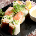 料理メニュー写真海老の生春巻き