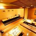 壁で仕切ることができる宴会席最大24名様!年間行事に人気の宴会場です!広々とした空間でご宴会をお楽しみ頂けます。その際は飲み放題付きご宴会コースがオススメです★是非ご一緒に楽しいひとときをお過ごしください!!大阪ミナミ難波エリアでの二次会など各種宴会は三間堂におまかせ下さい