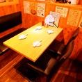 テーブルが広いので、ゆっくりお食事をお楽しみいただけます♪