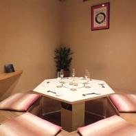 【個室完備】テーブル席、掘りごたつ席をご用意。