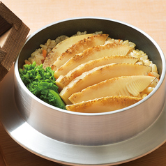 料理メニュー写真焼き竹の子釜飯(おしんこ・みそ汁付) ※ルーム代3時間込み
