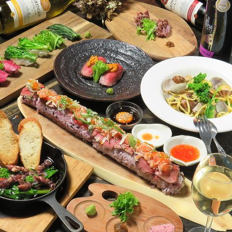 流川★食べ飲み放題もあり!肉と寿司を楽しむ♪お洒落な楽しむ大人のダイニング