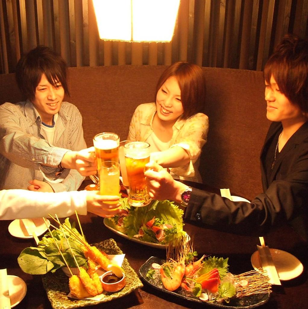 飲み放題 なら いろはにほへと!980円(税抜)から飲放プランを各種ご用意!