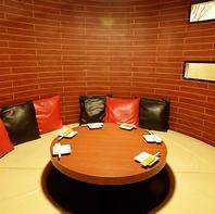 箱屋豊田店では大小様々な個室席を完備しております