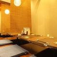 掘りごたつは最大14名様可能!宴会や接待にもご利用頂けます。#蒲田#京急蒲田#貸切#半個室#個室#日本酒#焼酎#歓迎会#
