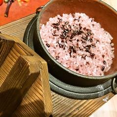 兵庫県宍粟市の紫黒米のとろろ釜飯
