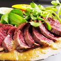 料理メニュー写真福島産馬肉のレアソテー、ジンジャーソースで