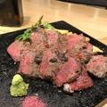料理メニュー写真黒毛和牛種 A4・A5ランク 甲州牛 ウチもも肉ステーキ <120g>
