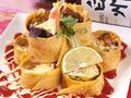料理メニュー写真メキシカントルティアミートロールサラダ