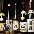 珍しい日本酒も揃えています!
