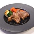 料理メニュー写真黒毛和牛のランプステーキ ~赤ワインとバルサミコソース~
