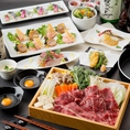 和食や楽蔵こだわりの炙り料理、新鮮なお刺身などとともにお料理との相性も抜群の日本酒や焼酎などのお酒がご堪能頂ける飲み放題付の宴会コースはクーポンのご利用でお得にご用意しております。広島での各種ご宴会の際には是非ご活用下さい。