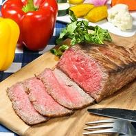 自慢の自家製ローストビーフ含む食べ飲み放題2980円