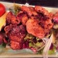 料理メニュー写真地鶏ハツの炭火焼き(タレ・塩)