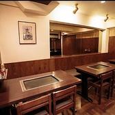 全てのお席には鉄板が完備されているのであたたかいお食事を美味しくお召し上がりいただけます☆