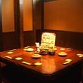 少人数での飲み会や宴会にも、もちろん個室をご用意♪ぐるりとテーブルを囲むお席は、みんなの顔が見えると大好評!個室で美味しいお料理と日本酒に舌鼓を…♪まったり過ごせる居心地の良い空間は、ついつい長居してしまう雰囲気◎サークルでの飲み会や家族だんらんにいかがでしょうか?ご予約承り中♪お気軽にお電話下さい