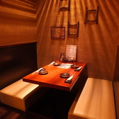 落ち着いてお食事が出来るソファーテーブル席をご用意【九州熱中屋 関内LIVE】【関内駅】【忘年会】【飲み放題】【半個室】