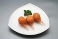 料理メニュー写真蟹の爪と海老のすり身揚げ物(1本)