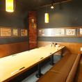 各種ご宴会向けの個室のお席。大人数利用可◎
