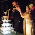 結婚式2次会に★シャンパンタワーサービス特典あり♪お気軽にご相談ください!