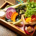 料理メニュー写真産直野菜盛合せ