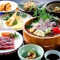 大分名物を存分に楽しめる『郷土料理コース』。