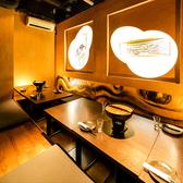 こちらのお席は堀火燵席となっております!それぞれ畳敷きの上に座布団をご利用頂きご着席頂く形となっております。リラックスしてお酒や料理をご堪能ください!