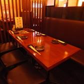結合可能なテーブル席。最大20名様でご利用頂けます。【九州熱中屋 関内LIVE】【関内駅】【忘年会】【飲み放題】