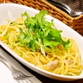 料理メニュー写真【スパゲッティ―】 豚肉と青菜の白いラグーソース