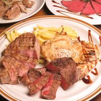 様々な種類のお肉料理が楽しめる!