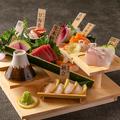 料理メニュー写真生本鮪入りお刺身7種盛り合わせ
