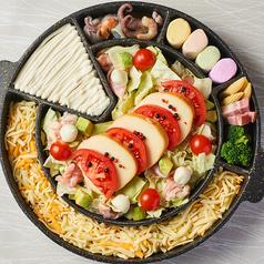NEW!!【ナポリタン鍋】新メニュー!トマトスープ×チーズ!フリースタイルで味変自在な新感覚なべ◎
