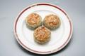 料理メニュー写真焼きニラ饅頭(1ヶ)