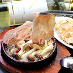 Mushroom and Prosciutto crudo Ajillo